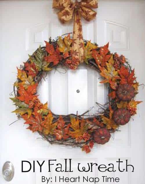 My Fall Wreath I Heart Nap Time