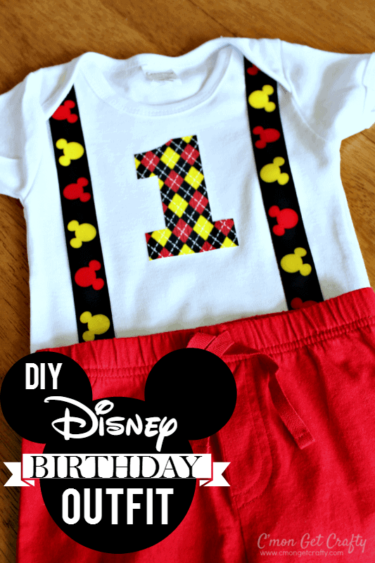 DIY Disney Birthday Outfit and Free Printable + DIY First Birthday Shirt and Party Hat - plus 15 other birthday outfit ideas to make your little one unbelievably adorable on the Big Day!