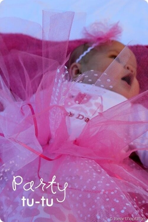 Pretty in Pink Party Tu-tu Tutorial + DIY First Birthday Shirt and Party Hat - plus 15 other birthday outfit ideas to make your little one unbelievably adorable on the Big Day!