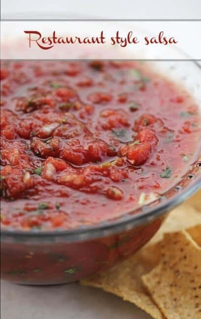 Restaurant style salsa... seriously the best out there! So easy to make too!