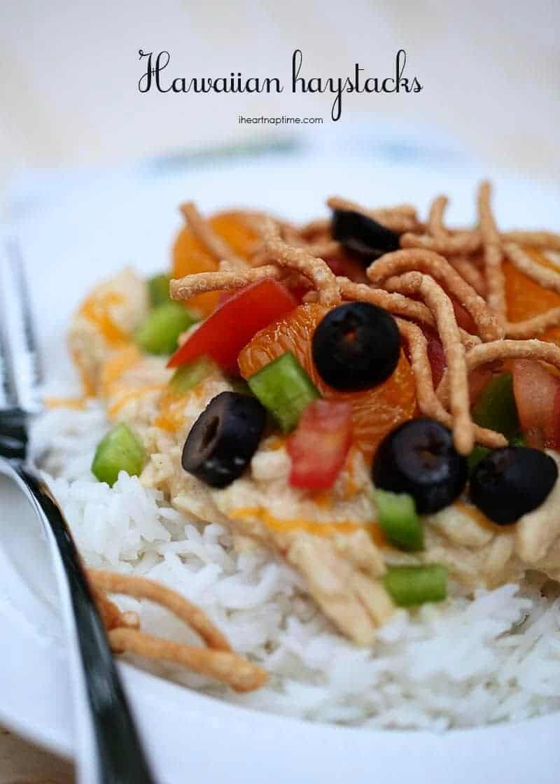 Hawaiian haystacks on iheartnaptime.com ...super easy and delicious! #slowcooker #recipes