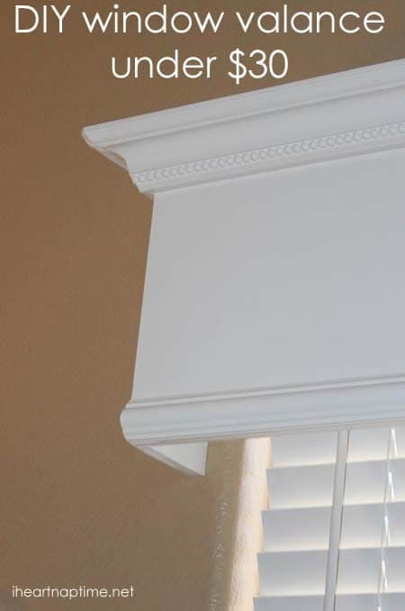 building wood valance