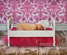 doll bed photo prop