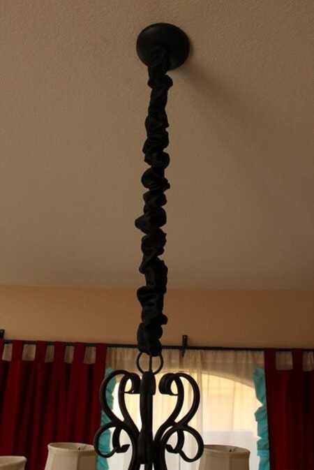 Chandelier Cord Cover and Candle Décor! - I Heart Nap Time