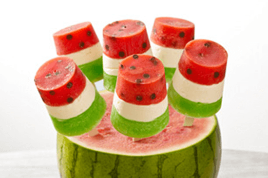 "Watermelon Pops + 25 Mouth-Watering Watermelon Desserts...the perfect refreshment that shouts, ""Summertime is here!"""