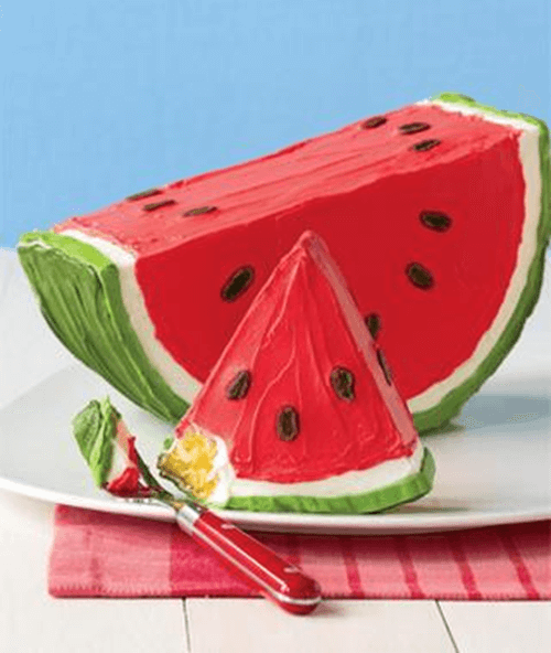 "Watermelon Dessert Cake + 25 Mouth-Watering Watermelon Desserts...the perfect refreshment that shouts, ""Summertime is here!"""
