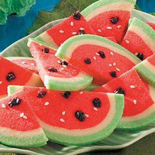 "Water melon cookies + 25 Mouth-Watering Watermelon Desserts...the perfect refreshment that shouts, ""Summertime is here!"""
