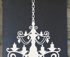 vinyl chandelier