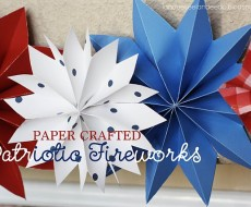 paper crafted patriotic fireworks