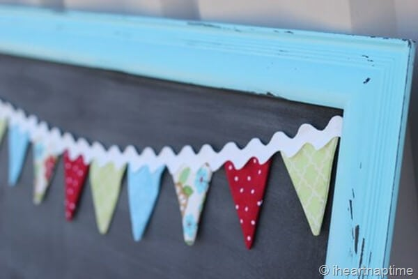 make this fun fabric banner