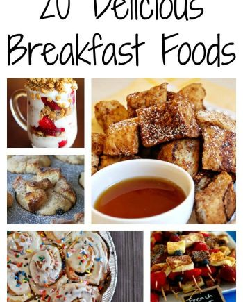 breakfast foods collage