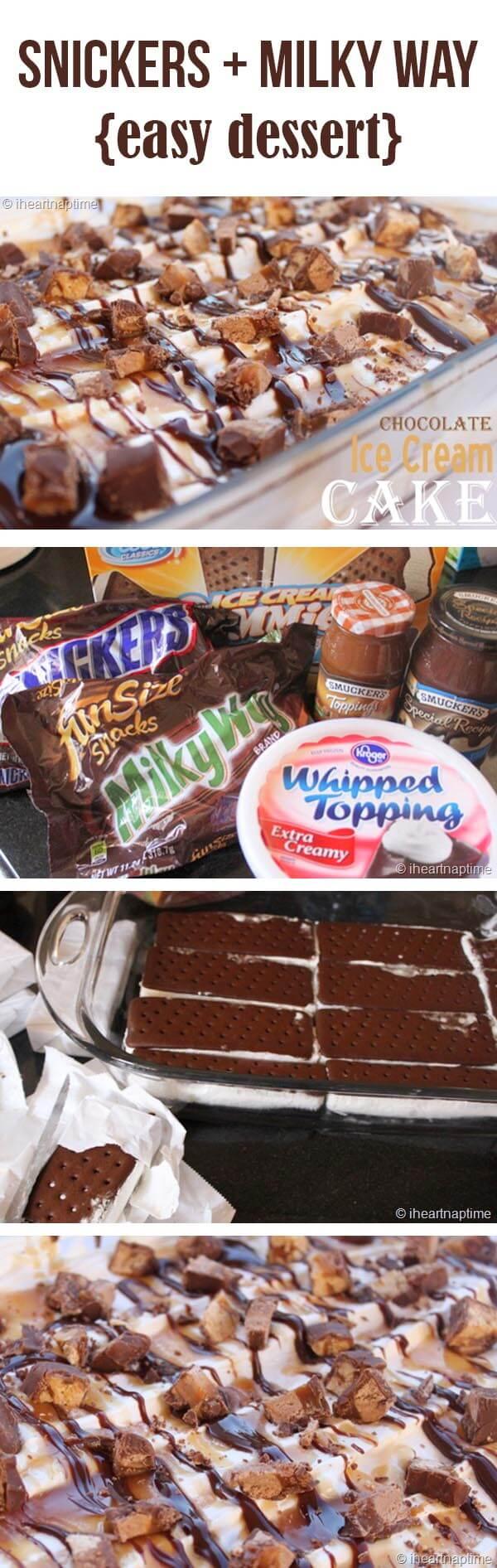 Easy and delicious ice cream cake dessert