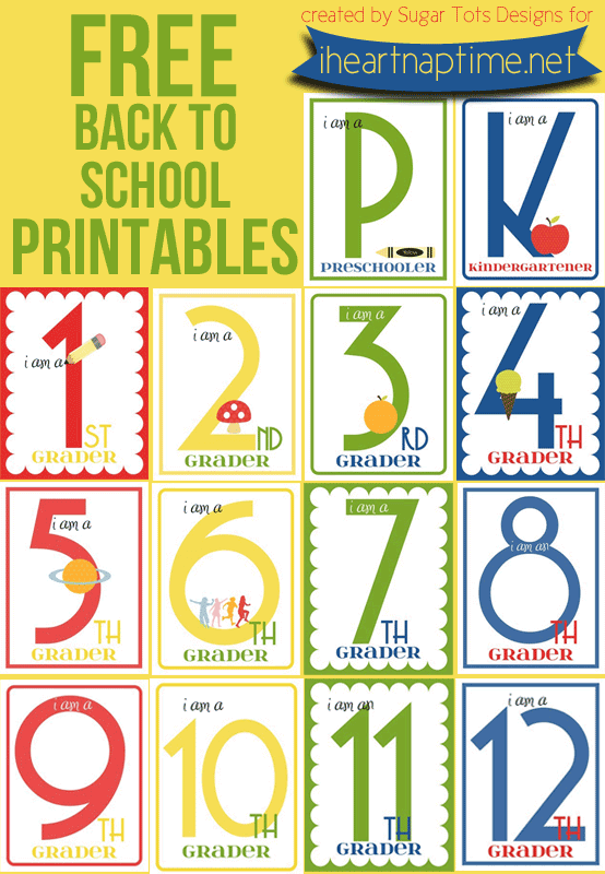... with their grade on the first day of school. #school #printables