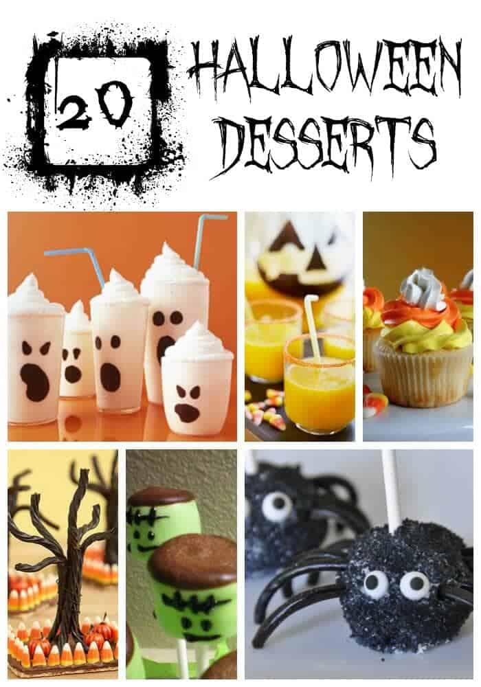 20 halloween treats collage