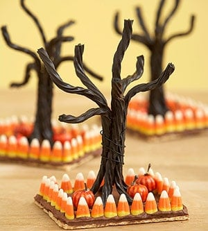 Halloween Trees on table