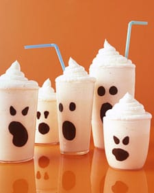 boo milkshakes on table