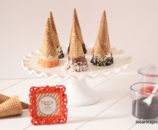 dipped ice cream cones