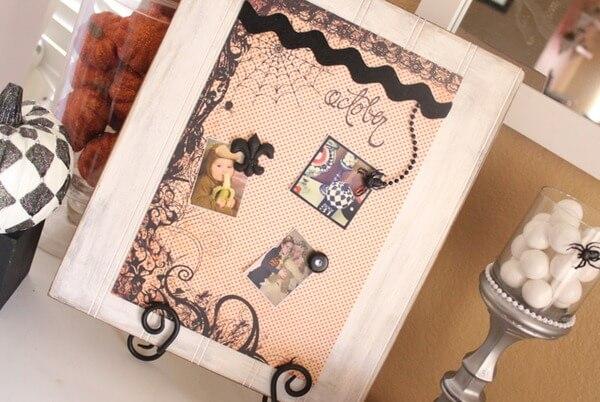 Crafty Halloween Magnet Board