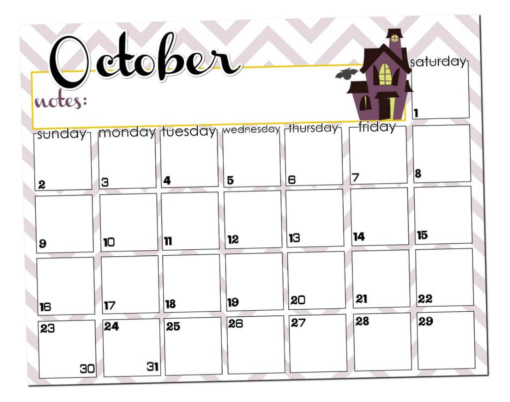 October Calendar Kindergarten : October calendar printable i heart nap time