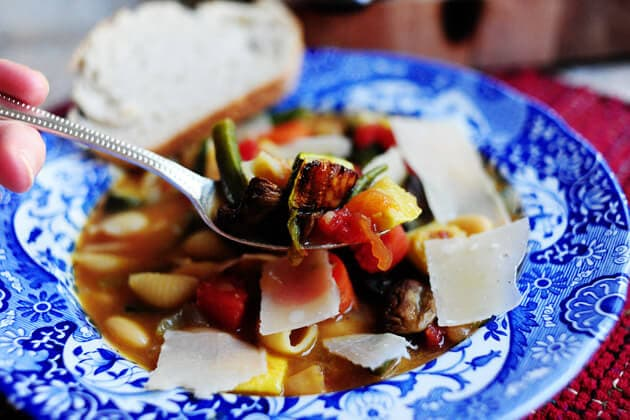Roasted Vegetable Minestrone from The Pioneer Woman