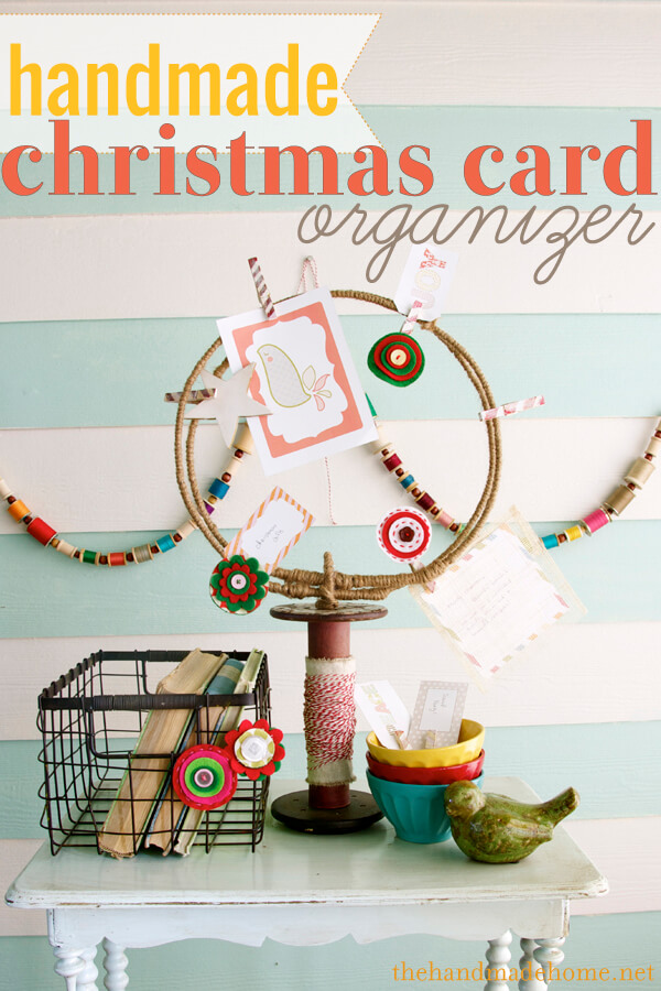 Tons of handmade christmas ideas decor gifts and recipes for Christmas card holder craft project
