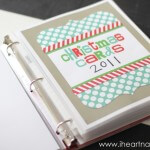 Christmas card memory book on iheartnaptime.net