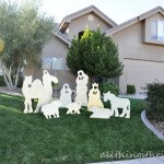 Christmas yard nativity {#DIY Craft}