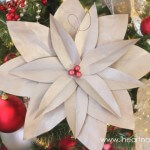 DIY Poinsettia Flower on iheartnaptime.net