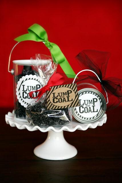 Lump of Coal - Fun {GIFT idea} w/ FREE printable!