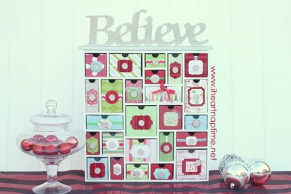 Tons of handmade christmas ideas decor gifts and recipes How to build a wooden advent calendar