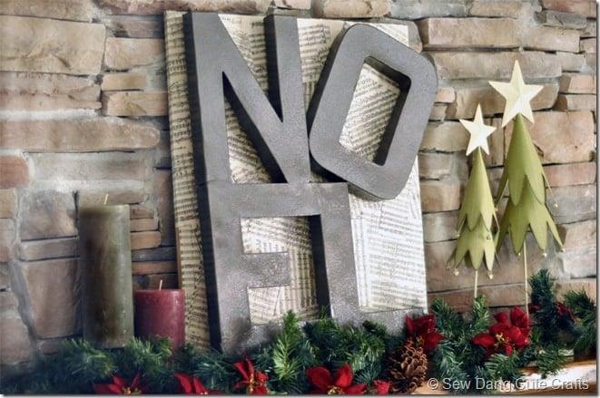 DIY Noel sign -Pottery Barn knockoff!