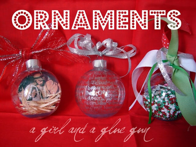 Tons of handmade christmas ideas decor gifts and recipes for Homemade xmas decorations