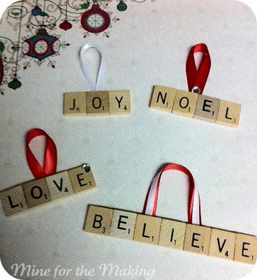 scrabble letter ornaments pictured tutorial