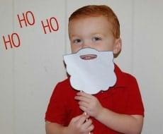 santa beard template