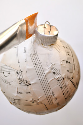 Sheet Music Craft Handmade Christmas Ornaments