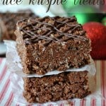 a stack of hot chocolate rice krispie treats