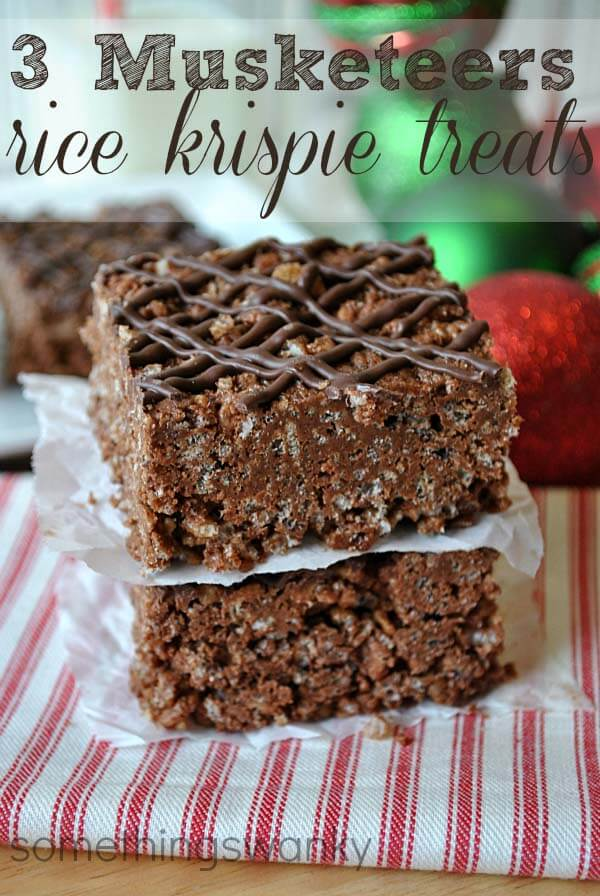 Hot Chocolate 3 Musketeer Rice Krispie Treat #recipe