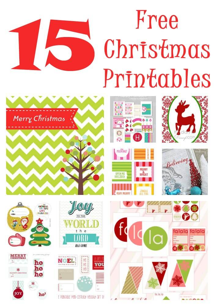 Free Christmas Printables on iheartnaptime.net