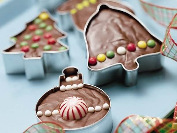 Chocolate christmas cookie fudge