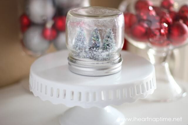 How to make a water less snow globe i heart nap time for Easy homemade christmas snow globes