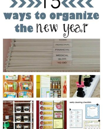 15 ways to organize the new year ideas collage