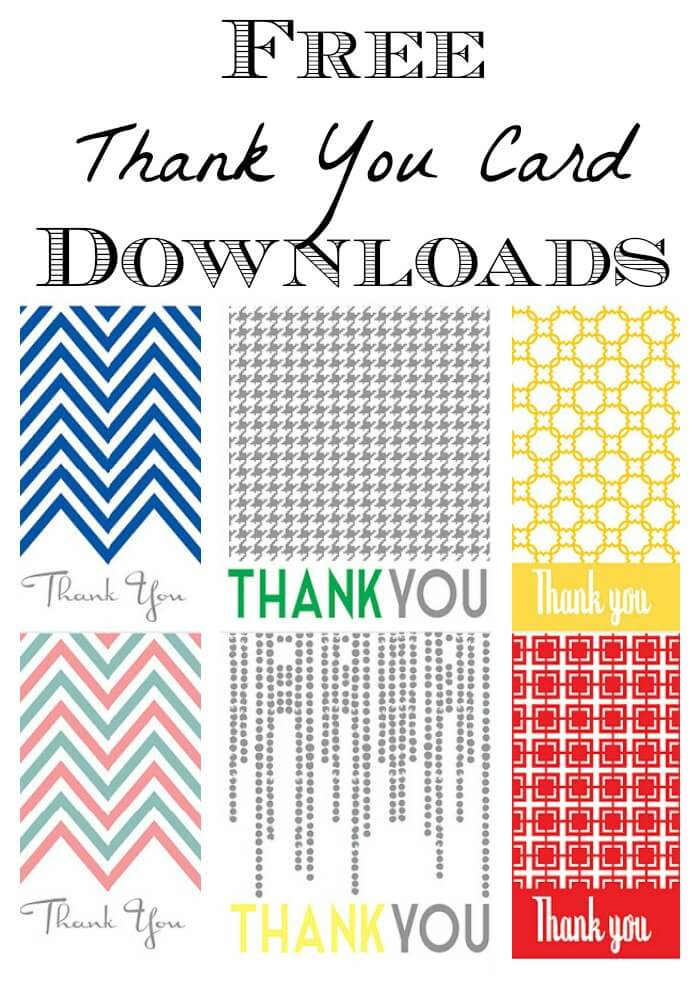 Thank You Note Printable Free Printable