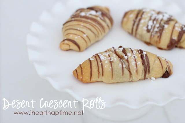 Peanut butter and nutella dessert crescent rolls ...such an easy and yummy treat!