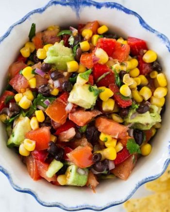 black bean salsa in a bowl