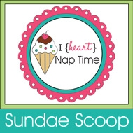 i heart naptime buton scoop