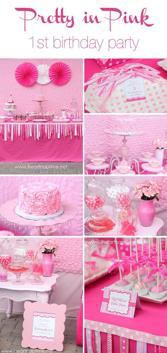 DIY pretty in pink birthday party