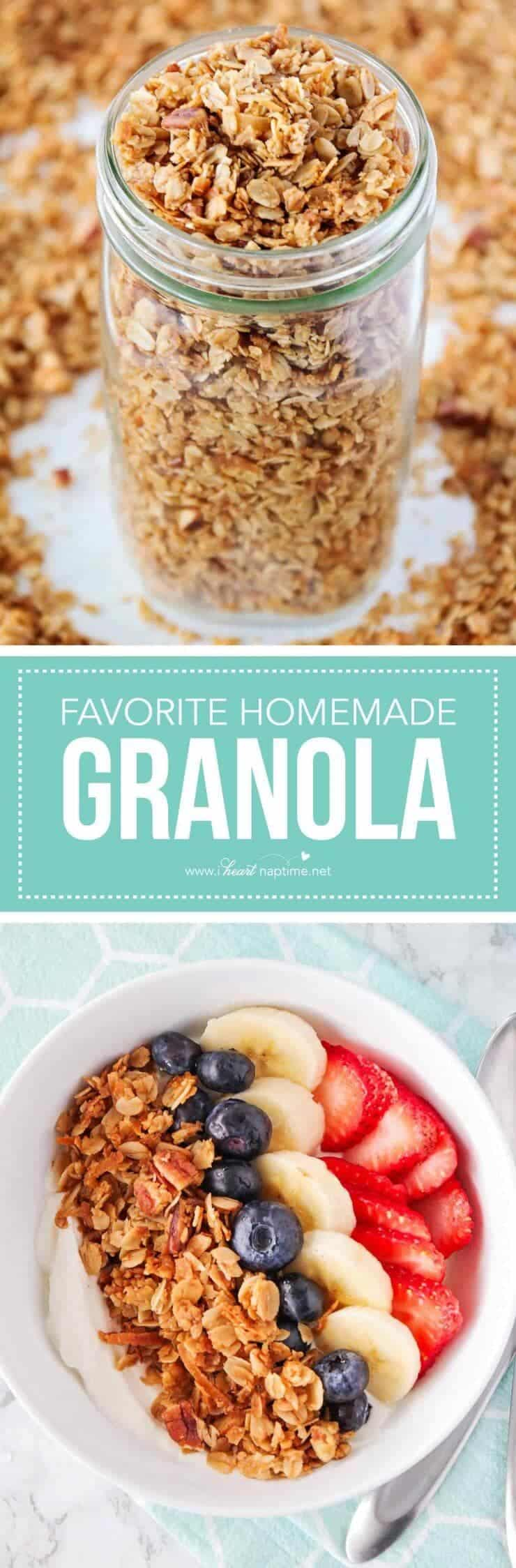 Favorite homemade granola recipe