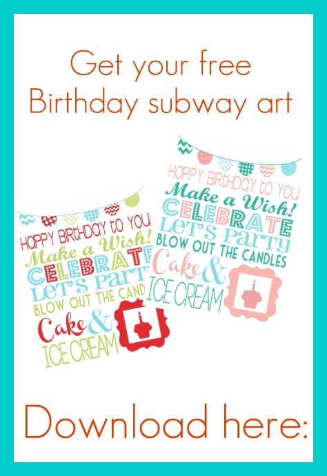 Free Birthday Printable - I Heart Nap Time