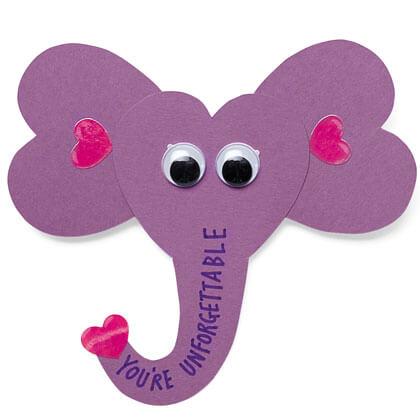 Perfekt Elephant Valentineu0027s Cards
