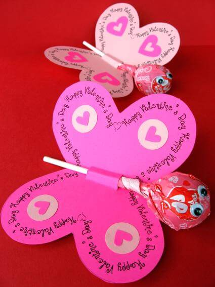 valentines hearts pop up card